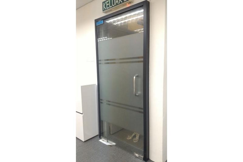 office glass door. frameless 12mm tempered glass door office s