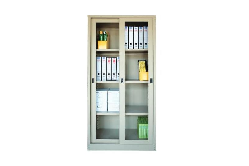Full Height Glass Sliding Door Cabinet Leading Office