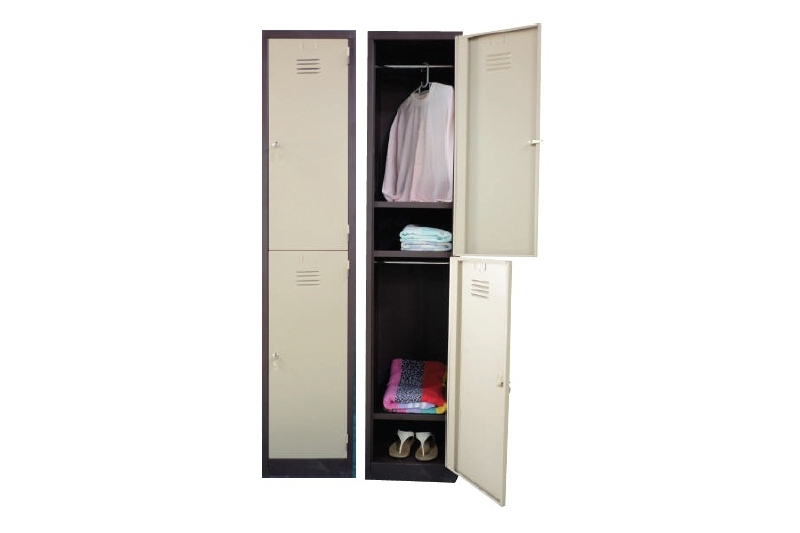 2 Compartments Steel Locker