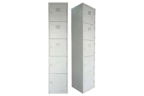 5 Compartments Steel Locker