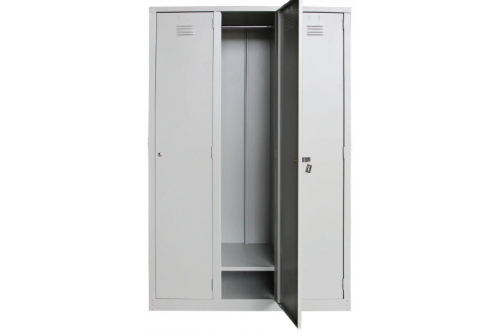 3 Compartments Steel Locker with Cloth Hanging