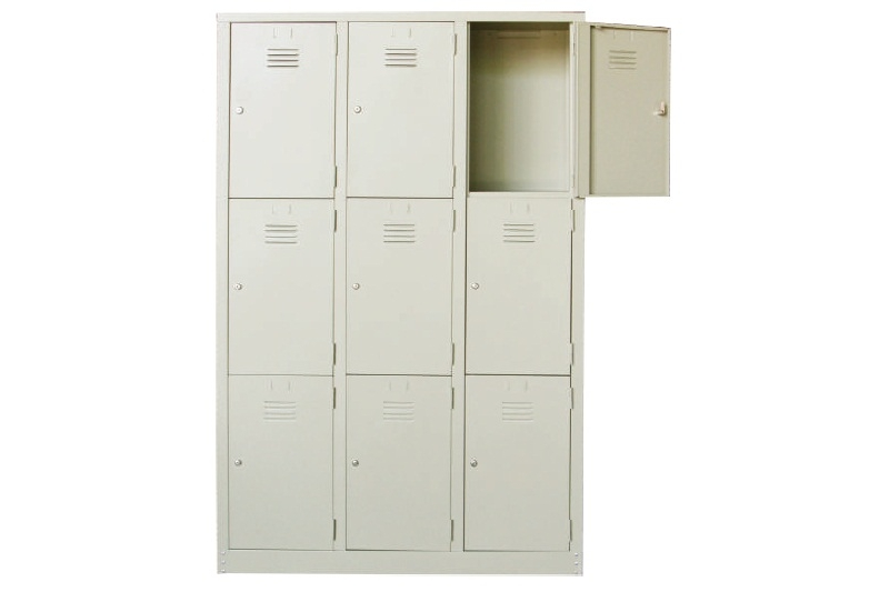 9 Compartments Steel Locker