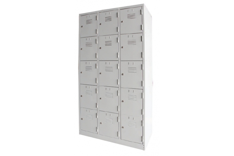 15 Compartments Steel Locker