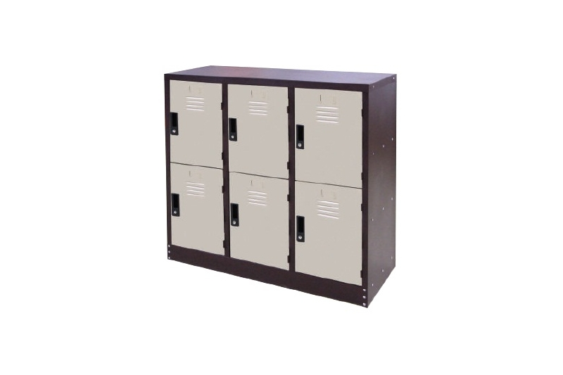 6 Compartments Steel Locker (Half Height)