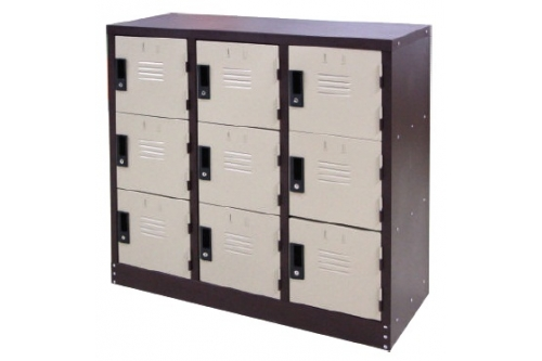 9 Compartments Steel Locker (Half Height)