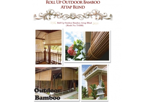 Roll up Outdoor Bamboo Attap Blind