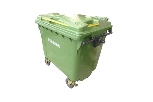 Mobile Garbage Bin 4-Wheel - 660 liters