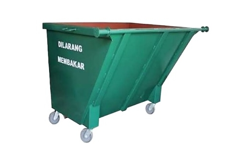 Metal Leach Bin 4-Wheel 1500 Liters