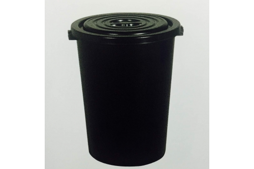 Dustbin 32 Gallon w Cover - Black
