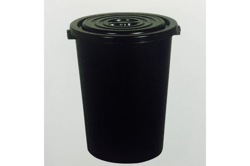 Dustbin 32 Gallon w Cover - Black