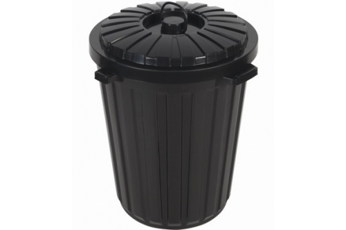 Dustbin 22 Gallon w Cover - Black