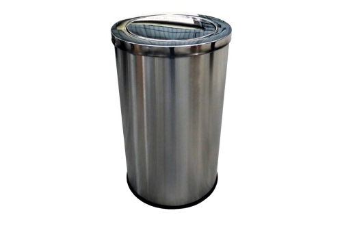 Stainless Steel Bin Round c/w Flip Top(XL)
