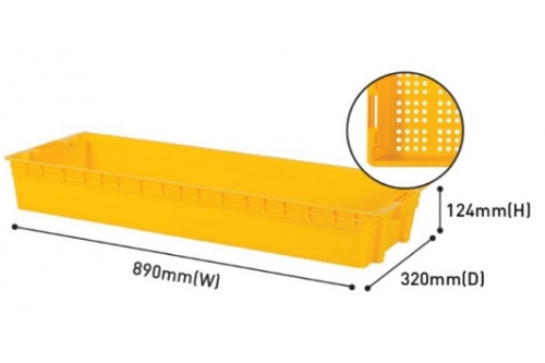 Industrial Stackable Tray - Yellow