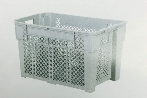 Industrial Stackable Basket -Grey