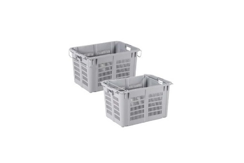 Industrial Stackable Basket - Grey