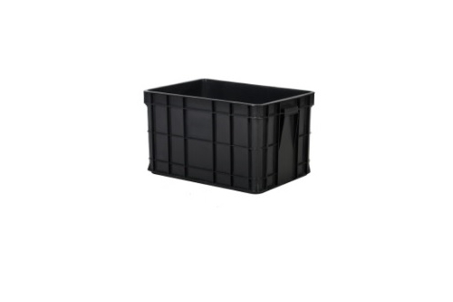 Industrial Stackable Container - Grey /Black