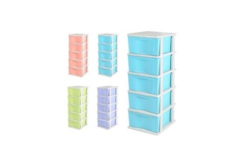 5 Tiers Trendy Drawer -Blue,Purple