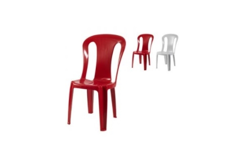 Plastic Chair - Red / Grey
