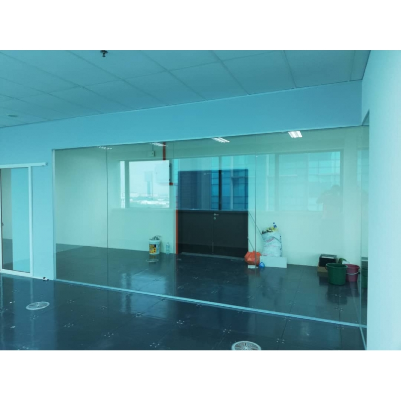 Frameless 12mm Tempered Glass Partition Leading Office
