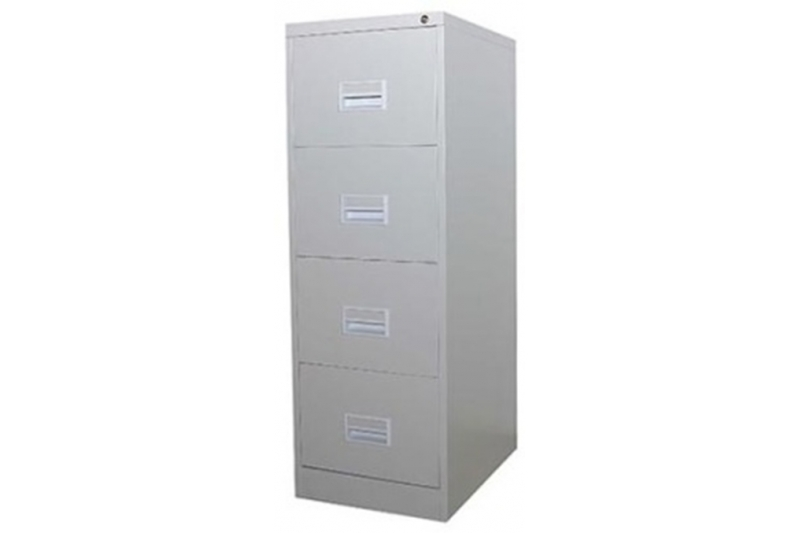 4 Drawer Filing Cabinet with Recess Handle c/w Ball Bearing Slide